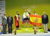 Catorce medallas para España en el Europeo de Halterofilia