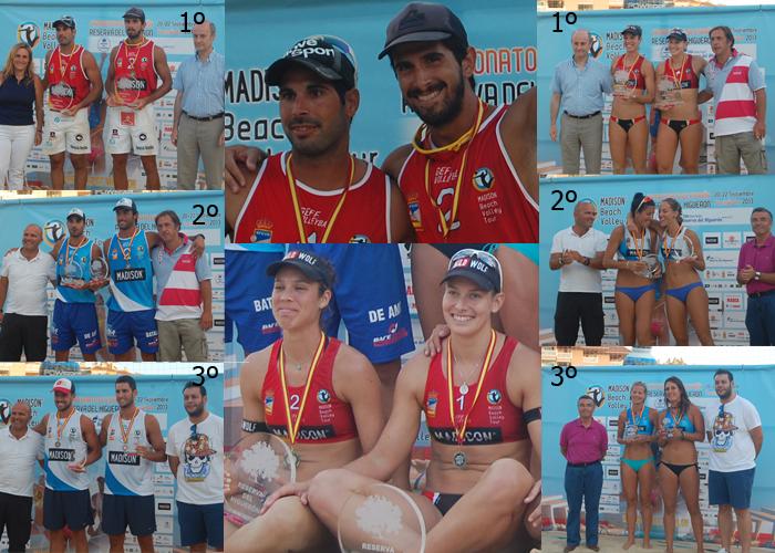 Cuadro de honor del Campeonato de Voley Playa 2013. | LPT/ AVANCE DEPORTIVO.