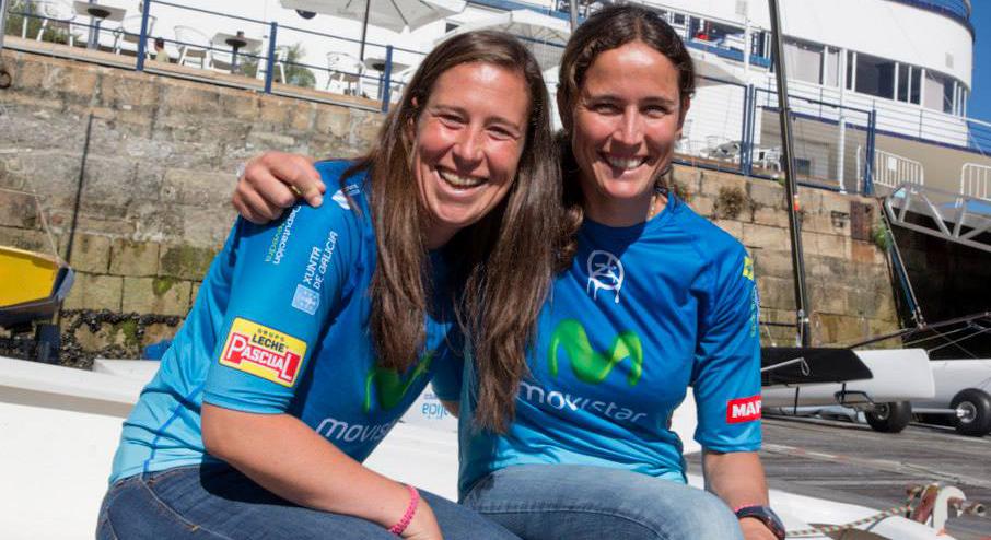 Echegoyen y Betanzos reciben el apoyo de Movistar. | María Muiña