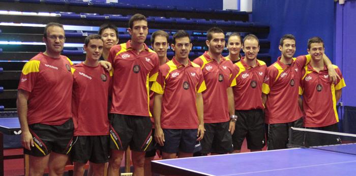 El equipo español de tenis de mesa encara el Europeo. | Federación Española Tenis de Mesa