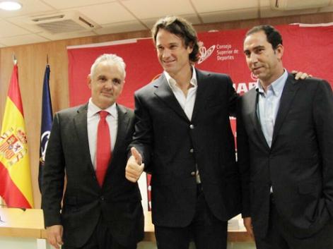 Presentación de Carlos Moyá como nuevo capitán de la Copa Davis.   Federación de Tenis