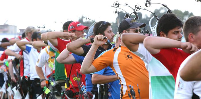 Participantes en el Campeonato del Mundo de Tiro con Arco. | World Archery