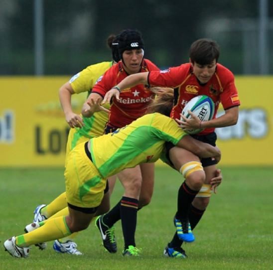 Partido de la selección de rugby siete española. | Ferugby