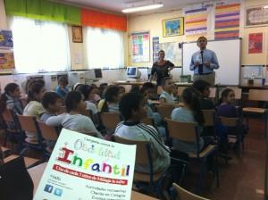 Charla en un centro escolar malagueño sobre la obesidad infantil. Fuente: Avance Deportivo