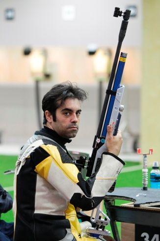 El tirador paralímpico Juan Antonio Saavedra. Fuente: AD