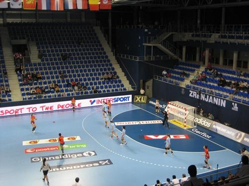 Segundo partido del mundial 2013 España-Argetina. Fuente: RFEBM