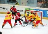Debut con derrota de la selección femenina de hockey hielo ante Canadá en la Universiada