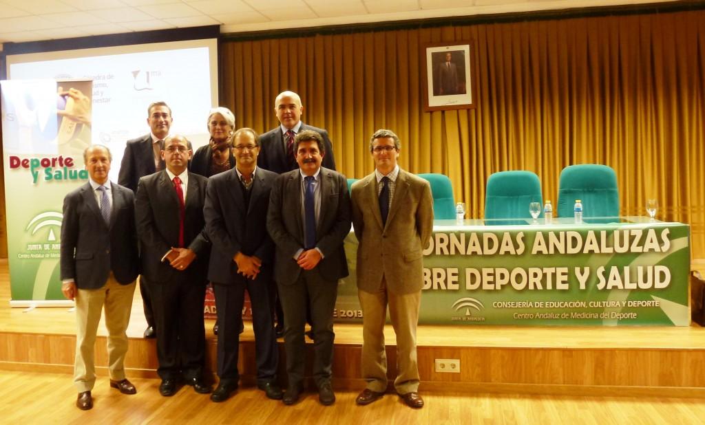 Ponentes de las Jornadas sobre Salud y Deporte. Fuente: AD