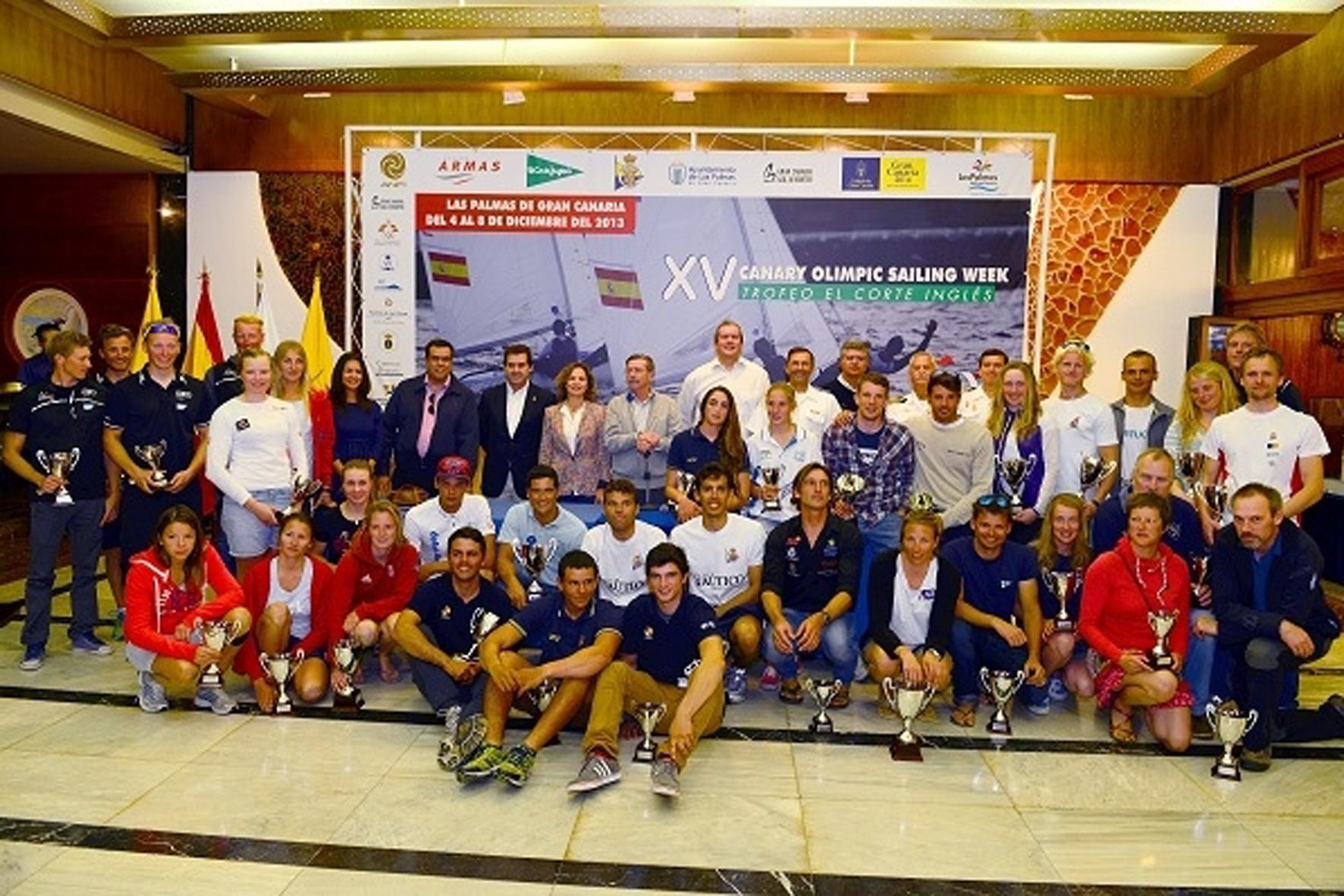 Participantes de la XV Semana Olímpica Canaria de Vela. Fuente: RCN Gran Canaria