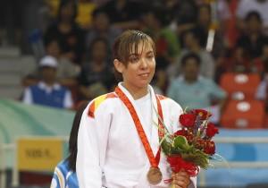 Paralímpiada de Pekín 2008 Mónica Merenciano en combate de judo