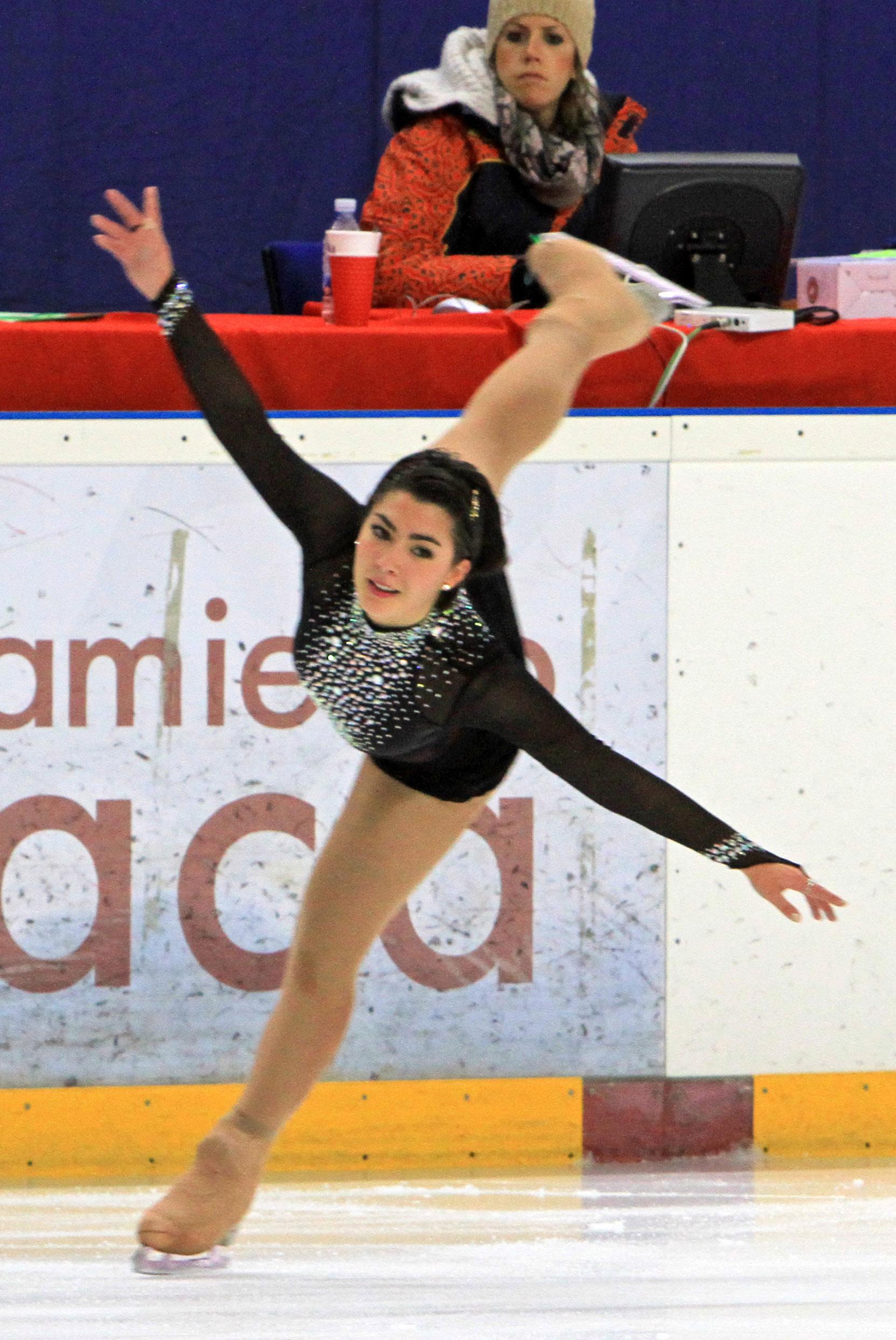 La patinadora Marta García. Fuente: AD