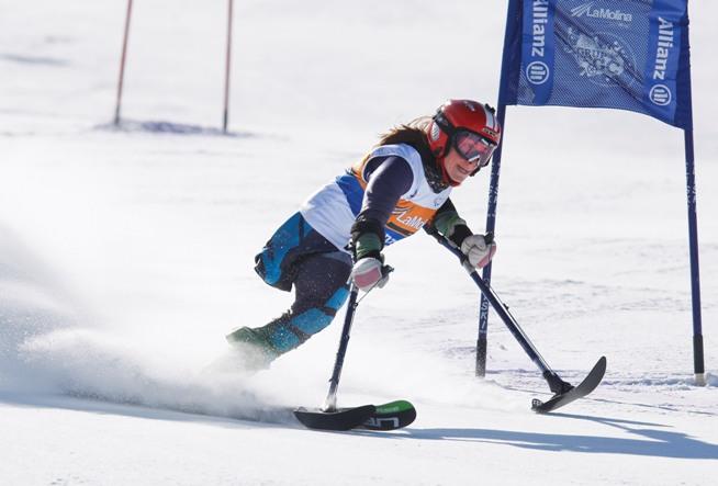 La esquiadora paralímpica Úrsula Pueyo. Fuente: AD