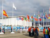 La bandera española ya ondea en la Villa Olímpica de Sochi