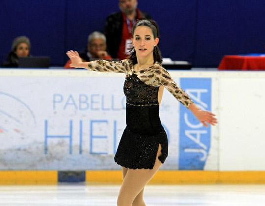 La patinadora española Sonia Lafuente durante un campeonato. Fuente: Fedhielo