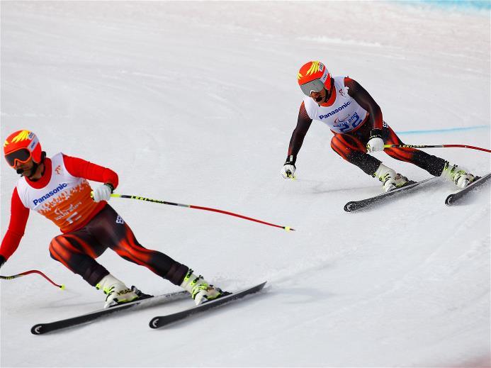 jon santacana miguel galindo sochi prueba descenso oro juegos paralímpicos esqui paralimpicos alpino