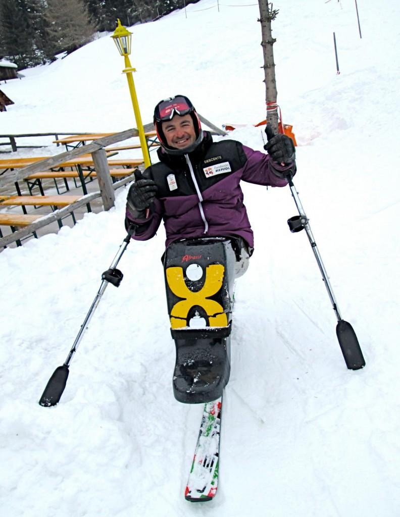 El esquiador Óscar Espallargas. Fuente: AD