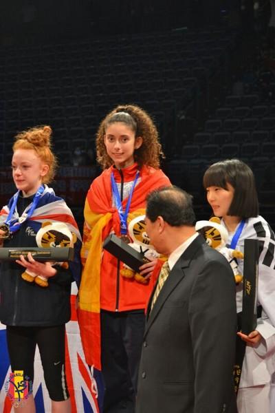 Tamara Miquel, bronce en el Mundial Júnior de Takwondo. Fuente: AD