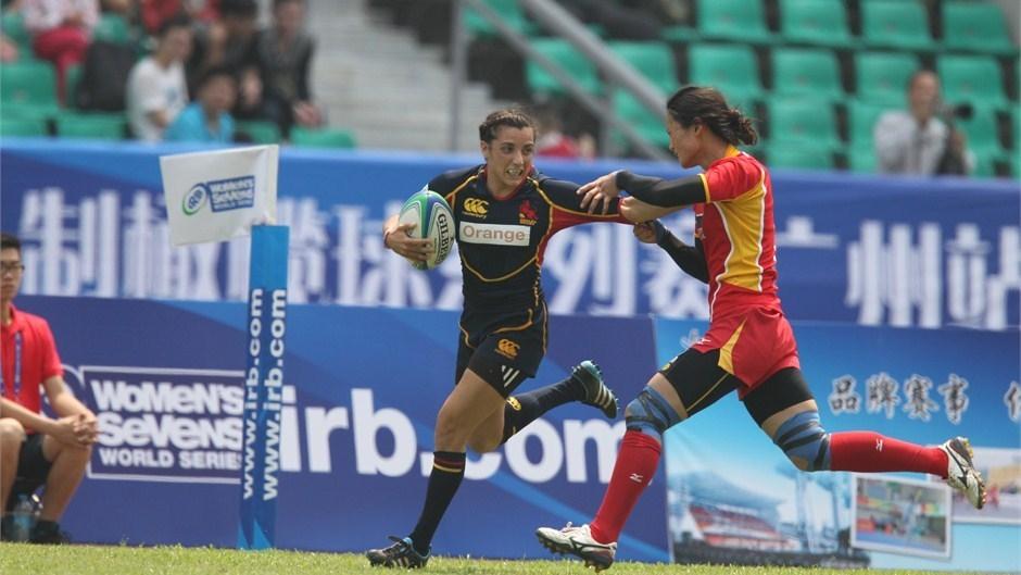 Marta Cabané ante una jugadora China. Fuente: IRB