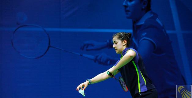 La jugadora onubense Carolina Marín durante un encuentro. Fuente: badminton.es