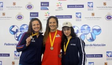 natacion melani 200 espalda con Da Rocha, Costa y Zamorano