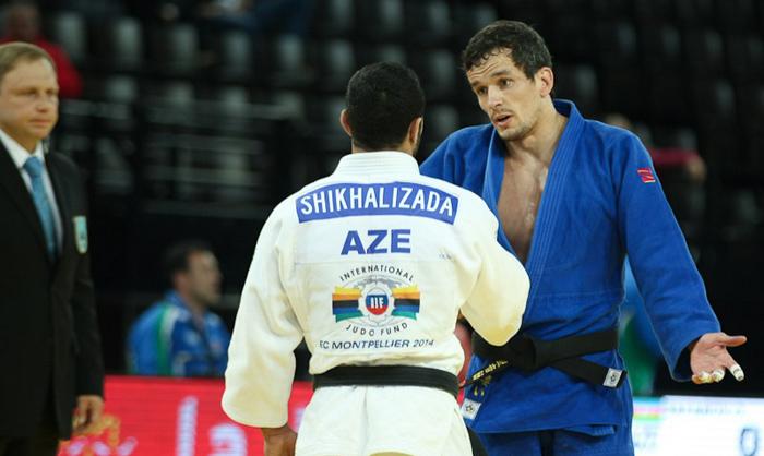 El judoca Sugoi Uriarte durante un combate en el Europeo. Fuente: Carlos Ferreira | EJU