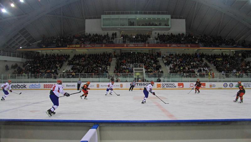 Partido entre España y Serbia en el Mundial sub 20 celebrado en Jaca. Fuente: Alberto Montenegro