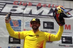 Pablo Galán tras proclamarse campeón. Fuente: RFEC