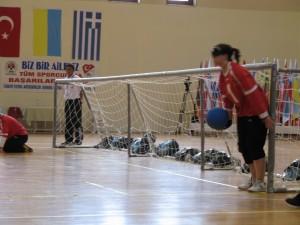 La aragonesa Laura Belle durante un partido.