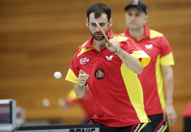 El jugador madrileño de tenis de mesa, Eduardo Cuesta. Fuente: RFETM