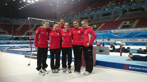 La selección española de gimnasia artística femenina. Fuente: Rfegimnasia
