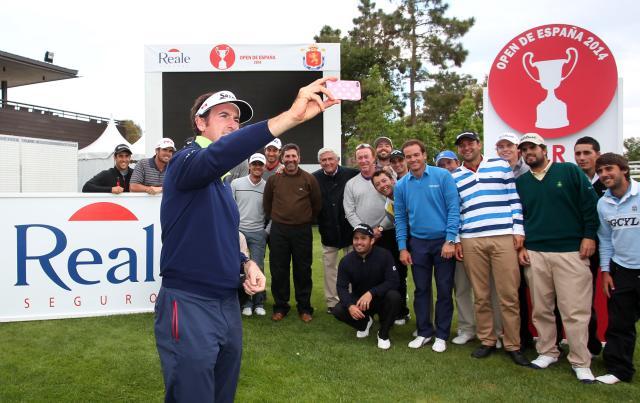 El gran selfie del golf español. Fuente: Jorge Andreu.
