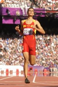 Lorenzo Albaladejo durante una carrera.