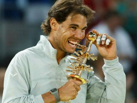 Rafa Nadal muerde su cuarto título en Madrid. Fuente: RFET