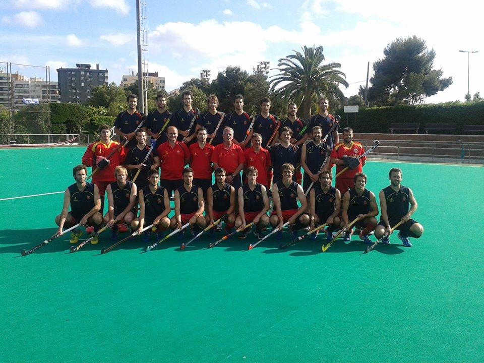 La selección española masculina de hockey hierba. Fuente: RFEH