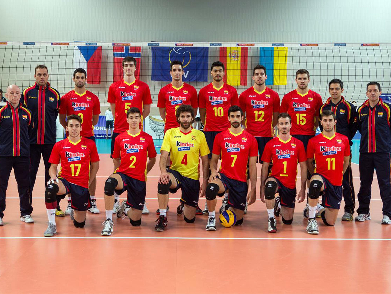 La selección española de voleibol. Fuente: RFEVB
