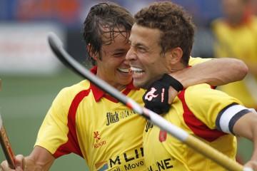España frente a Malasia en el Mundial. Fuente: RFEH