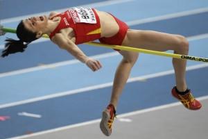 Ruth Beitia durante un salto. Fuente: AD