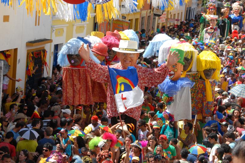 Imágenes del carnaval de Olinda. Fuente: AD