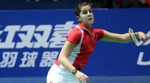 Carolina Marín durante un partido.