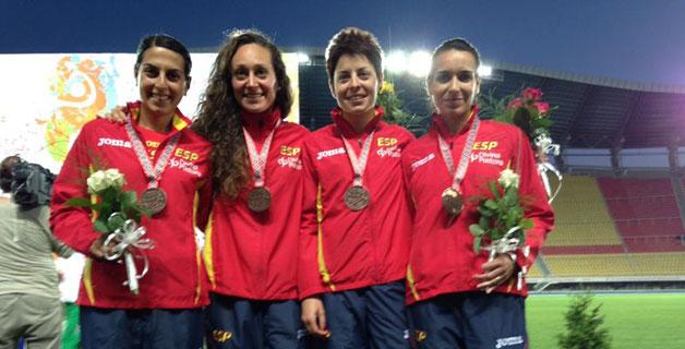 Gema Barrachina, Alba García, Paula González y Lidia Rodríguez. Fuente: RFEA
