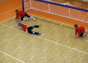 Partido de goalball. Fuente: Servimedia