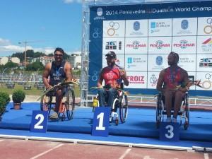 Rafa Botello y Gustavo Molina en el podio.