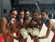 Las chicas de rítmica consiguen el bronce en mazas