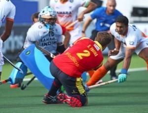 Santi Freixa en el partido frente a India. Fuente: RFEH