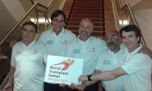 Miembros de la candidatura malagueña en los Juegos Mundiales de Trasplantados. Fuente: AD