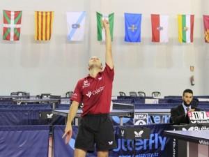 Machado tras lograr la victoria. Fuente: RFETM