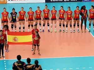 La selección española en el Preeuropeo. Fuente: RFEVB