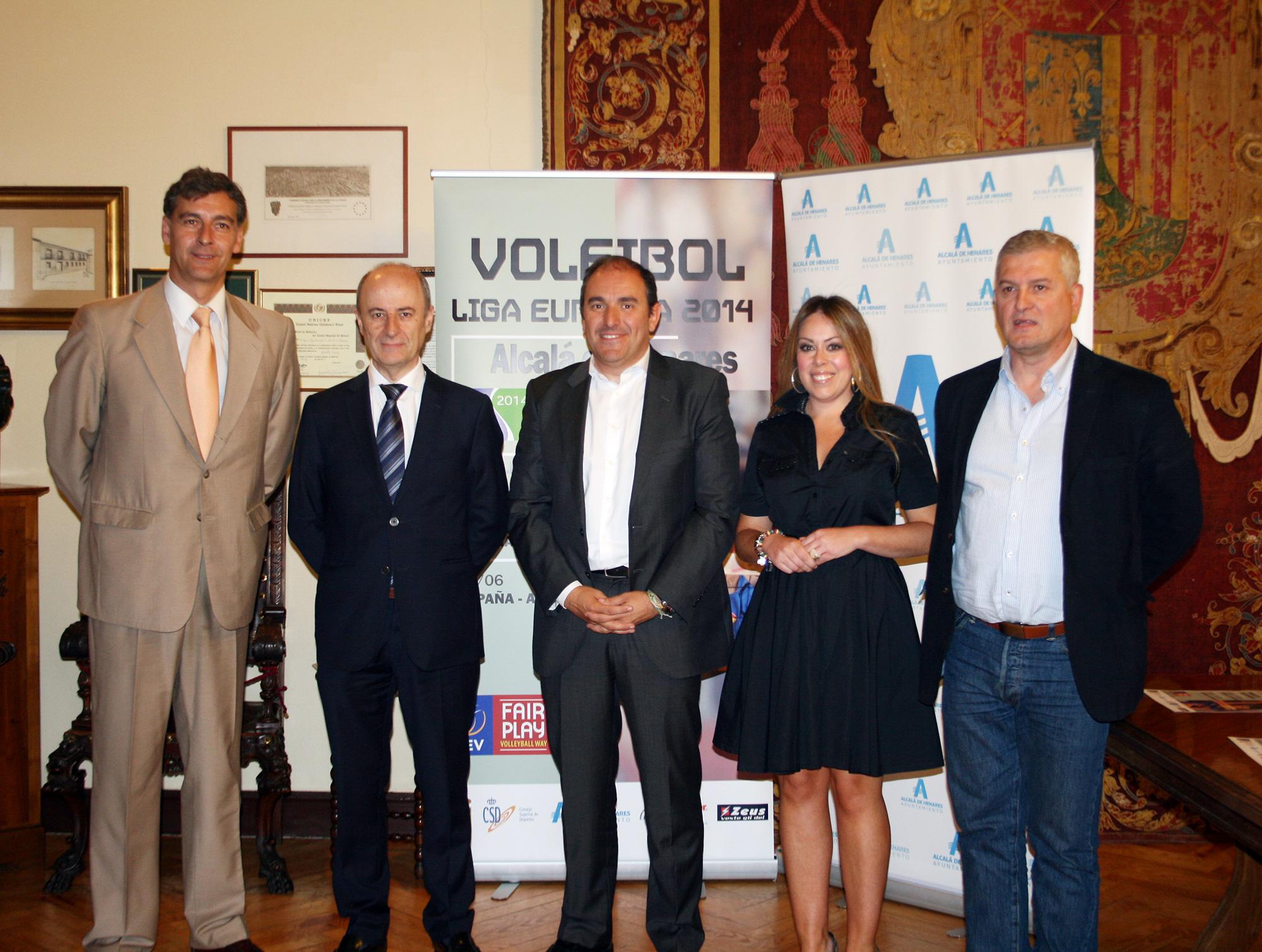 Presentación en Alcalá de Henares de la Liga Europea femenina. Fuente: AD