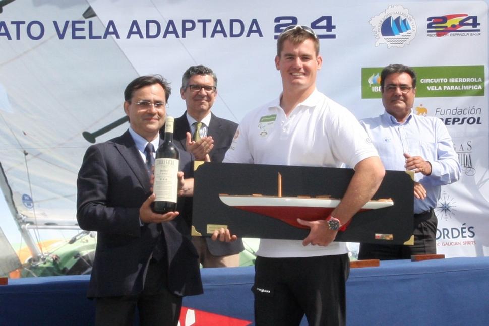 Rafa Andarias ha conseguido imponerse en el Campeonato Vitaldent de Vela Adaptada. RFEV