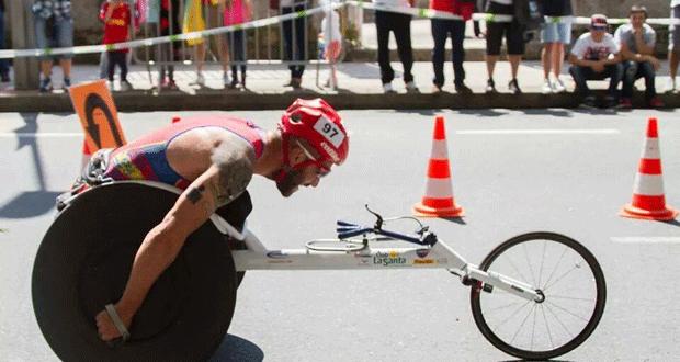 El atleta español Rafa Botello durante una competición. | Fuente: AD